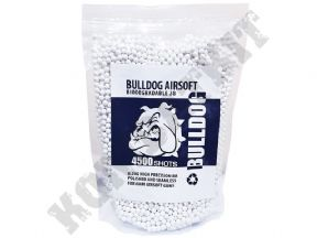 BIO BB Pellets 4500 x 20g White | Bulldog Airsoft Gun 6mm Polished Ammo | KOMBATKIT SHOP